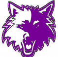 Bunger Wolves Wolf Logo Purple