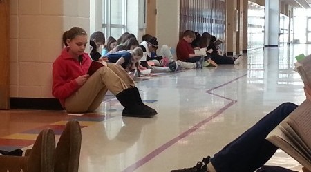 6th Graders Protest Peacefully–With Books!