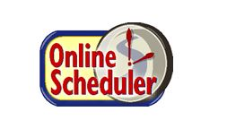 Picture of the words Online Scheduler