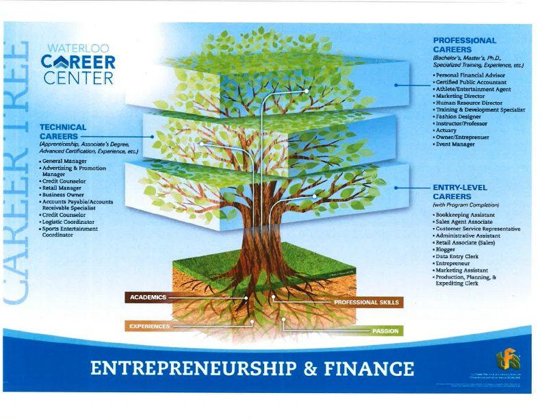 Entrepreneurship and Finance Career Tree