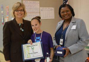 Kristia Rigdon receiving her award