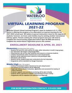 Virtual Learning Flier