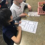 Students working with Reading Buddies