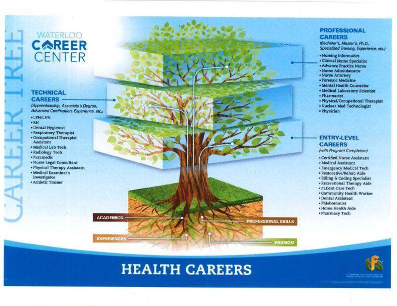 Health Careers Career Tree
