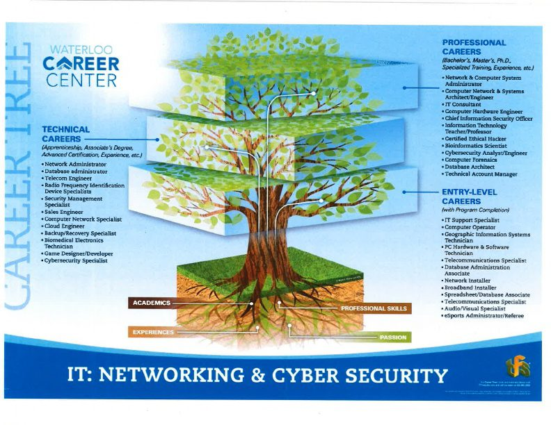Information Technology Networking and Cyber Security Career Tree