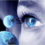 Global Thinking - Woman Looking at Globe